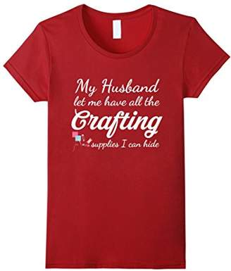 Funny Knitting T-Shirt - All The Crafting Supplies... Tee