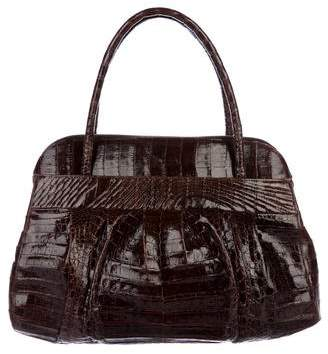 Nancy Gonzalez Crocodile Zip Satchel