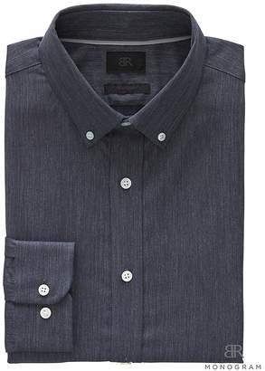 Banana Republic Monogram Grant Slim-Fit Italian Cotton Herringbone Shirt