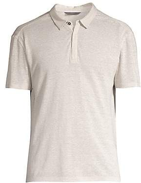John Varvatos Men's Short-Sleeve Linen Polo