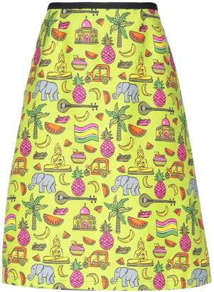 Prada Knee length skirts - Item 35392005UW