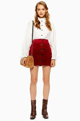 Topshop TALL Corduroy Pocket Mini Skirt
