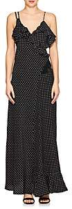 Mayle Maison Women's Dot-Print Silk Crepe Maxi Dress - Black