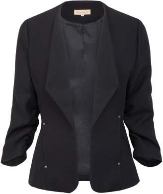 Kate Kasin Fashion Clothing Womens Plus Size Lightweight Long Sleeve Open Front Blazer XL KK470-2
