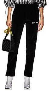 Palm Angels Women's Logo Velour Track Pants - Black