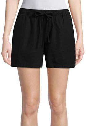ST. JOHN'S BAY Womens Pull-On Short