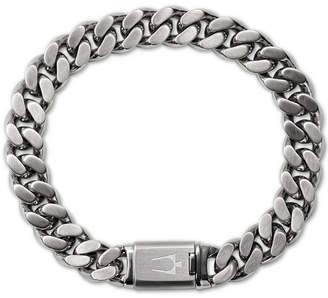 Bulova Men Chain Bracelet in Stainless Steel