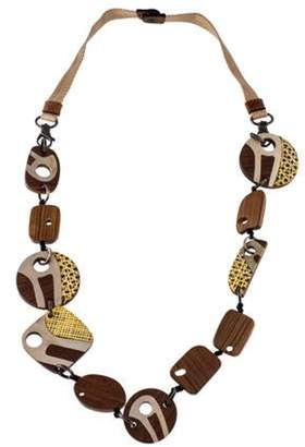 Marni Wood Collar Necklace silver Wood Collar Necklace