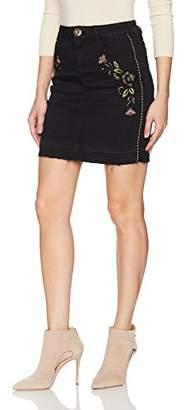 Desigual Women's Exo Red Woman Denim Short Skirt_Black