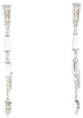H.Stern 18K Diamond Linear Front-Back Earrings