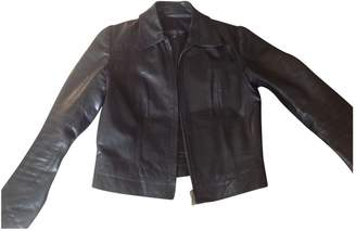 Ventcouvert Black Leather Leather Jacket for Women