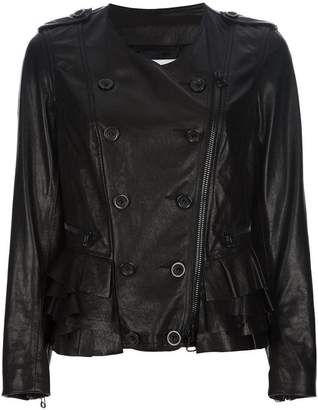 3.1 Phillip Lim button detail leather jacket