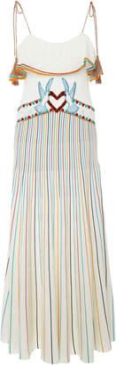 RED Valentino Stripe Cotton Yarn Dress