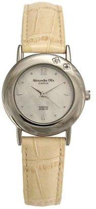 Alessandra Olla (アレッサンドラ オーラ) - アレッサンドラオーラ Alessandra Olla 天然ダイヤモンド AO-6900IV レディース 腕時計