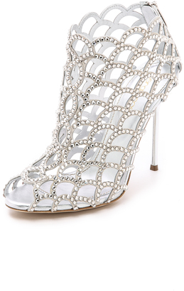 Sergio Rossi Mermaid Cage Booties $1,895 thestylecure.com