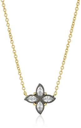 Freida Rothman Womens Signature Bloom Clover Leaf Pendant Necklace