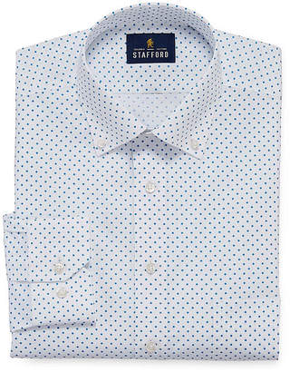 STAFFORD Stafford Slub Linen Look Big And Tall Long Sleeve Broadcloth Dress Shirt