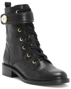 Louise et Cie Faux Pearl Leather Military Boots