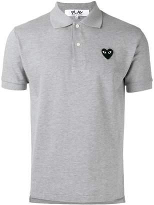 Comme des Garcons heart patch polo shirt
