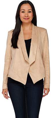 Halston H By H by Open Front Faux Suede Jacket