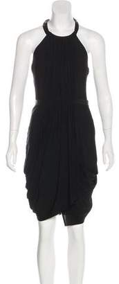 Rag & Bone Leather-Accented Halter Dress