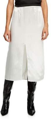 Marni Satin Slit-Front Skirt