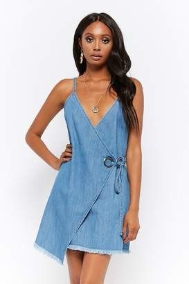 Forever 21 Wrap-Front Chambray Dress
