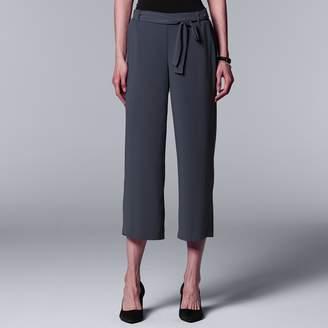 Vera Wang Women's Simply Vera Wide-Leg Capri Pants