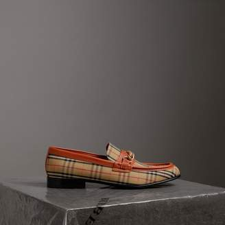 Burberry The 1983 Check Link Loafer , Size: 42, Red