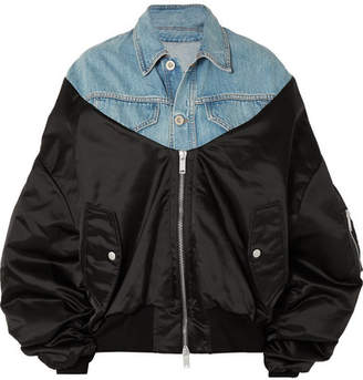 Unravel Project - Oversized Shell And Denim Jacket - Black