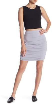 Free Press Ruched Mini Skirt