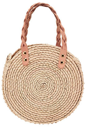 San Diego Hat Company Crochet Round Straw Handbag