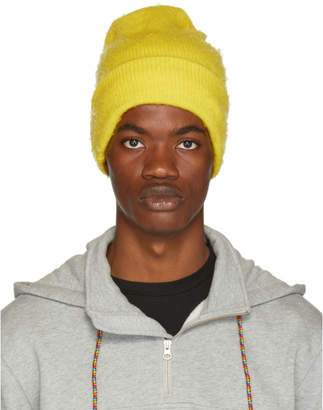 Acne Studios Yellow Wool and Cashmere Beanie