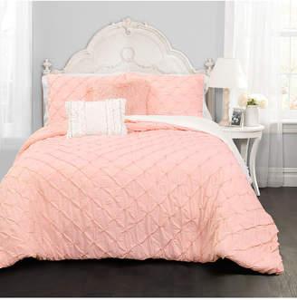 Lush Decor Ravello Pintuck 4-Piece Twin Comforter Set Bedding