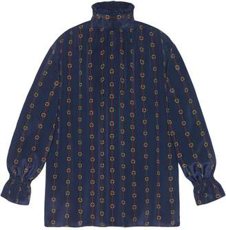 Gucci Oversize printed silk shirt