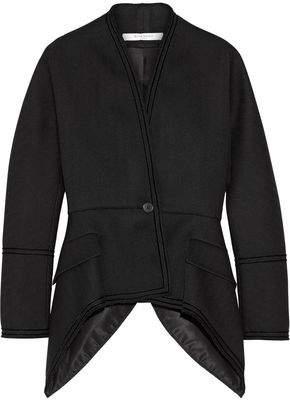 Givenchy Chevron Wool Jacket With Velvet Trim
