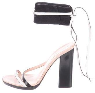 Reed Krakoff Leather Ankle Cuff Sandals