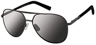 Rocawear Men's R1473 Gunbk Non-polarized Iridium Aviator Sunglasses