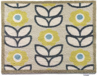 Hug Rug - Flowers Washable Recycled Door Mat - Green/Blue - 65x85cm