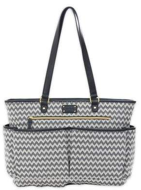Carter's carter's® All The Time Chevron Tote Diaper Bag in Black/Ivory