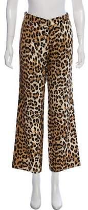 Tuleh Wide-Leg Animal Print Pants