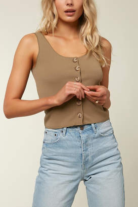 O'Neill Hill Button Ribbed Tank