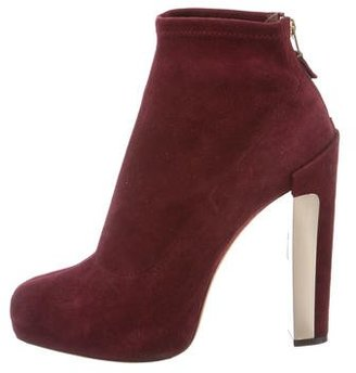 B Brian Atwood Suede Platform Booties $125 thestylecure.com