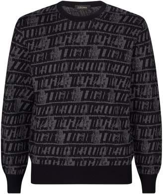 Ermenegildo Zegna Wool Logo Sweater