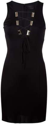 Philipp Plein neck-tie detail dress