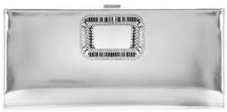 Roger Vivier Pilgrim Small embellished metallic leather clutch