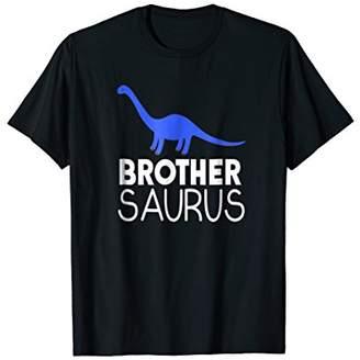 Brother Saurus Blue Dinosaur Shirt Matching Family Kids