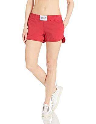 Calvin Klein Women's Smocked Waistband Short, Extra