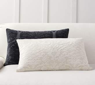 Pottery Barn Treia Jacquard Lumbar Pillow Cover