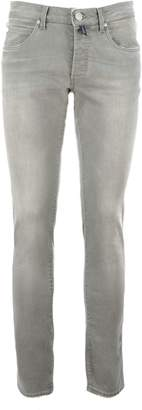 E. Marinella Capri Stretch Denim Skinny Jeans.